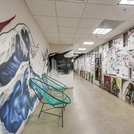 Wavelengths Artwork Hallway